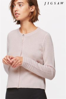 Jigsaw Rosewater Cashmere Cardigan