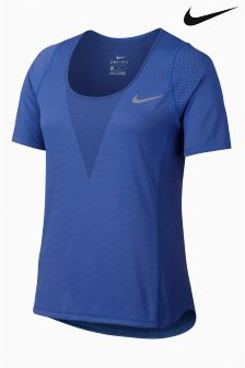 Nike Blue Zonal Cooling Relay Running Top