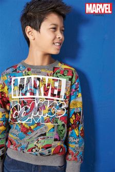 Marvel All-Over Print Crew Neck (3-16yrs)