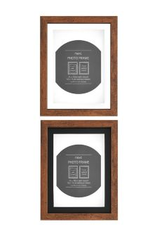 Set Of 2 Walnut Finish Frames