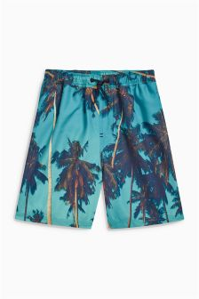 Palm Print Swim Shorts (3-16yrs)