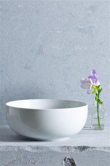 White Serve Bowl
