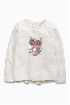 Owl Sequin T-Shirt (3mths-6yrs)