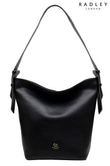 Radley Black Finch Street Large Bucket Hobo Bag