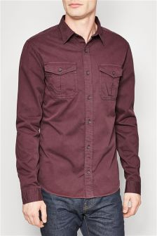 Long Sleeve Twin Pocket Shirt