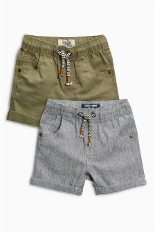 Linen Rich Shorts Two Pack (3mths-6yrs)