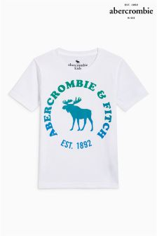 Abercrombie & Fitch White Moose T-Shirt