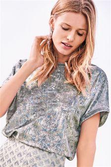 Foil Velvet T-Shirt