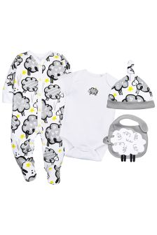 Sheep Four Piece Set (0-6mths)