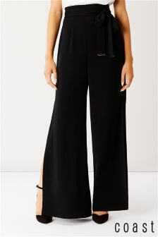 Coast Black Morgan Side Split Trouser
