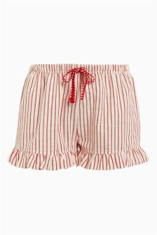 Cotton Ruffle Shorts