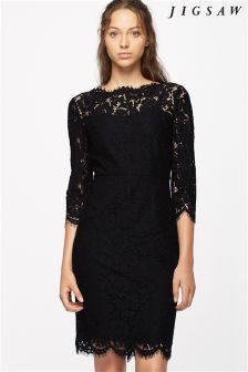 Jigsaw Black Lace Dress