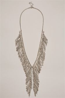Beaded Tassel Y Drop Necklace