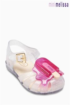 Kids Mel Dreamed By Melissa Clear Lollypop Jelly Shoe