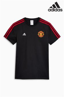adidas Manchester United FC 2017/18 3-Stripe T-Shirt
