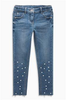 Pearl Detail Skinny Jeans (3-16yrs)