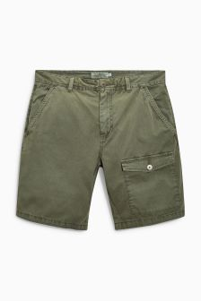 Washed Pocket Shorts