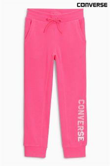 Converse Pink Slim Logo Jogger