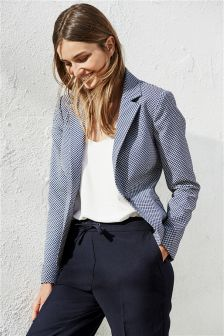 Navy Jacquard Jacket