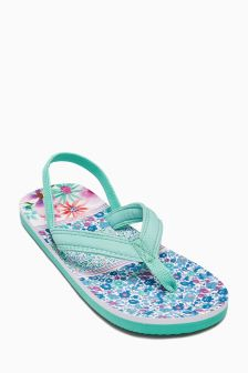 Printed Flip Flops (Younger Girls)