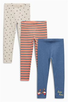 Stripe Leggings Three Pack (3mths-6yrs)