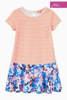 Joules Orange Jessica Drop Waist Dress