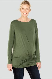 Maternity Longline Pleat Top