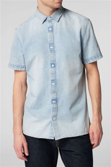 Short Sleeve Frayed Shirt