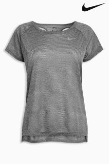 Nike Grey Breathe Running Top