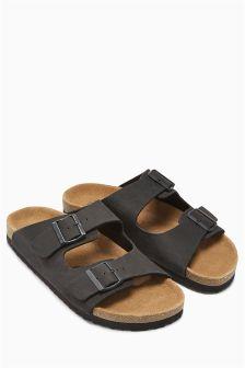 Leather Buckle Sandal