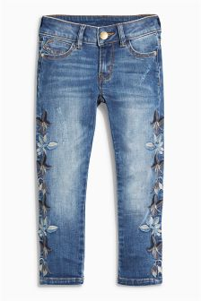 Embroidery Skinny Jeans (3-16yrs)