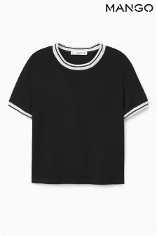 Mango Black Sports Luxe Tee