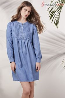 Paul & Joe Sister Blue Bib Front Denim Dress