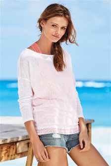 Knit Look Layer Top
