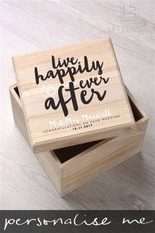 Personalised Special Occasion Keepsake Box By Letterfest