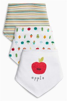 Vegetable Dribble Bibs Three Pack