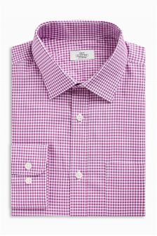 Gingham Regular Fit Shirt With Pocket