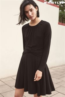 Whistles Black Celestine Jersey Dress