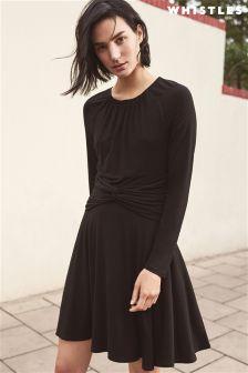 Whistles Black Celestine Jersey Dress