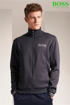Hugo Boss Green Navy Skaz Zip Through Sweat