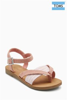Toms Bloom Metallic Jote Lexie Sandals