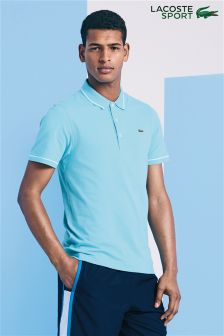 Lacoste® Sport Ocean Blue Rib Collared Polo