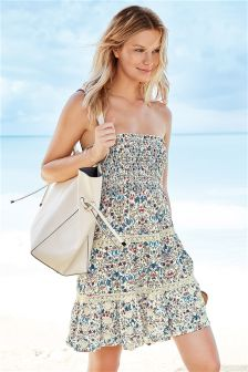 Floral Pull On Dress