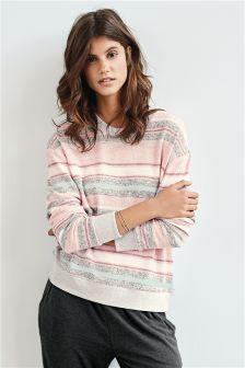 Super Soft Stripe Crew Top