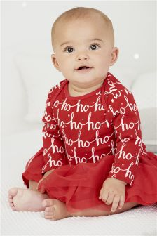 Long Sleeve Ho Ho Ho Bodysuit (0mths-2yrs)