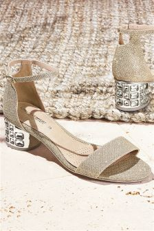 Jewelled Heel Sandals