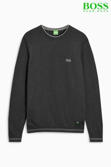 Boss Green Rime Crew Neck Charcoal Knit