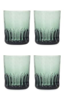 Set Of 4 Handmade Textured Tumblers