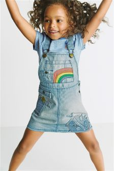 Denim Rainbow Pinafore (3mths-6yrs)