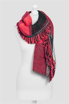 Knit Mix Oversized Scarf